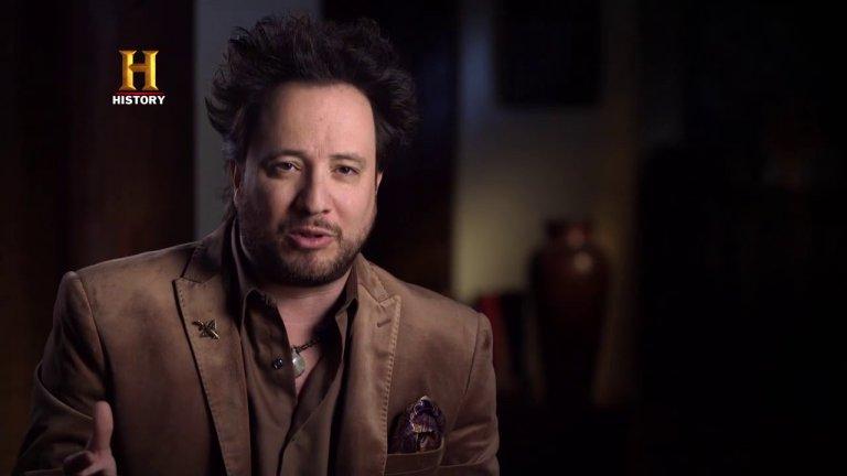 Giorgio A. Tsoukalos presenta en History Channel su programa Alienígenas Ancestrales.