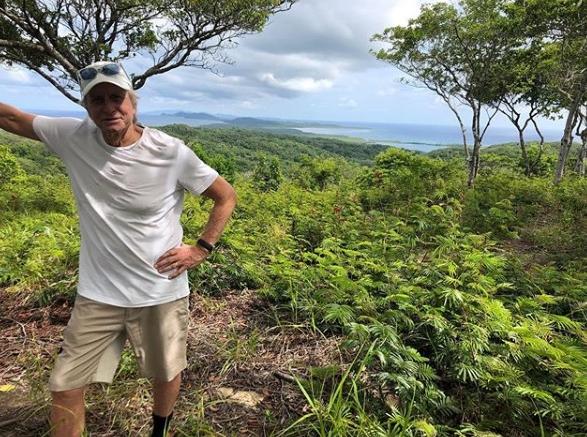 Esta fue la última foto que público el actor en su visita a Honduras.