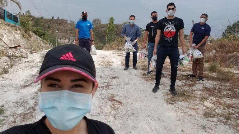Bolsas con alimentos llegan a varias zonas vulnerables de Honduras.