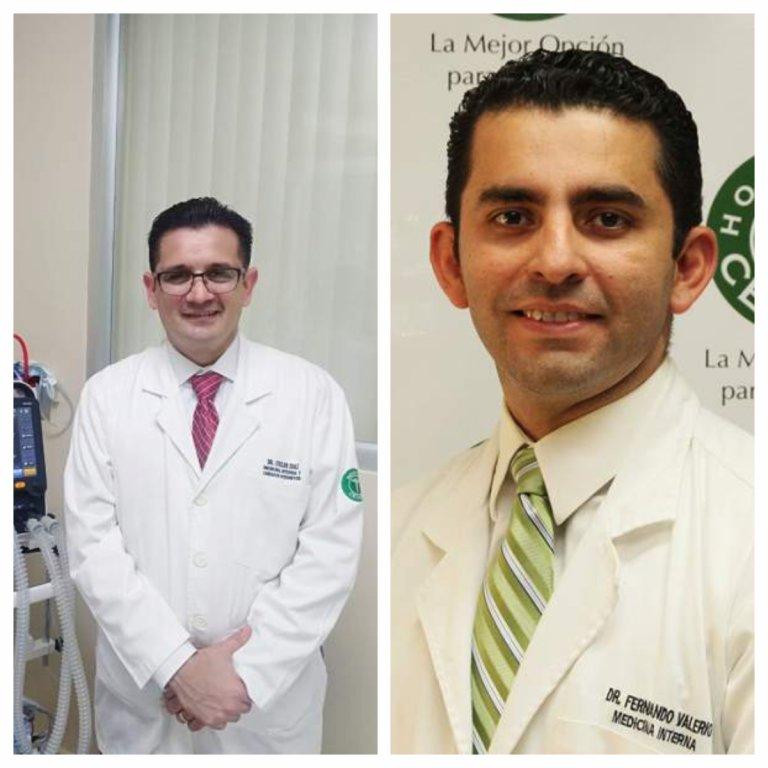 Oscar Diaz y Fernando Valerio, médicos que trabajan en el protocolo Maiz.